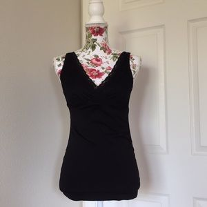 Motherhood Maternity Lacy Tank Top size S